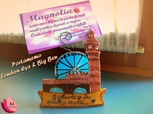 Magnolia portamemo london eye e big ban in pasta di mais