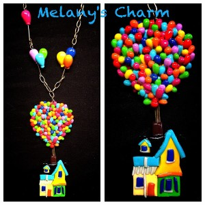 Melany's Charm mongolfiera Up in fimo
