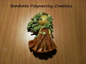 Bombotta Polymerclay Creations doll in fimo