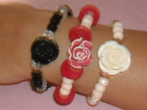 Totyla's creations braccialetti handmade con rose
