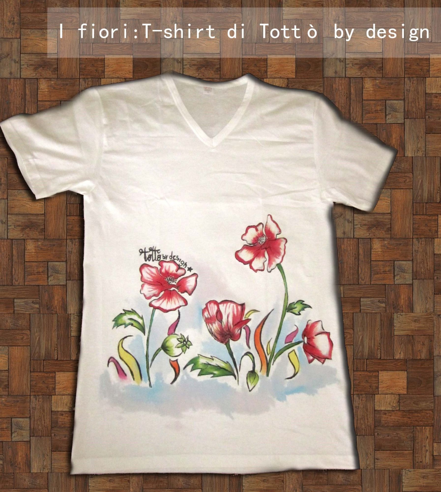 Tottò by design t-shirt dipinte a mano