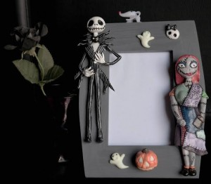 Il Folletto Burlone cornice portafoto in fimo nightmare before christmas