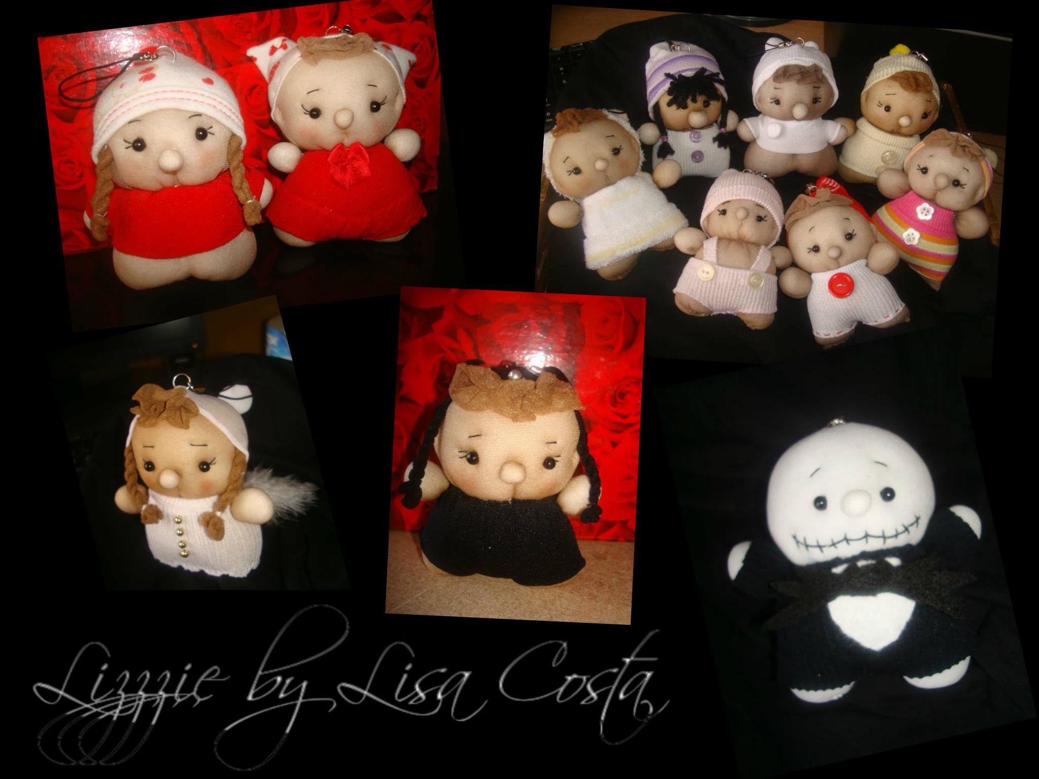 Lizzzie by Lisa Costa – Sock Dolls and more